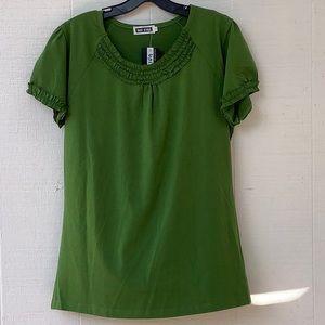 Uni Girl Women's Green Shirt short sleeve XXXL